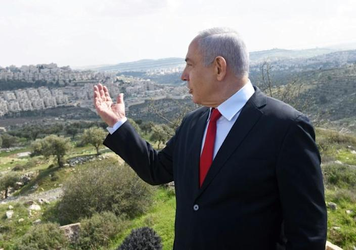 Israeli Prime Minister Benjamin Netanyahu has announced plans to build thousands of new homes for Jewish settlers in annexed east Jerusalem (AFP Photo/DEBBIE HILL)