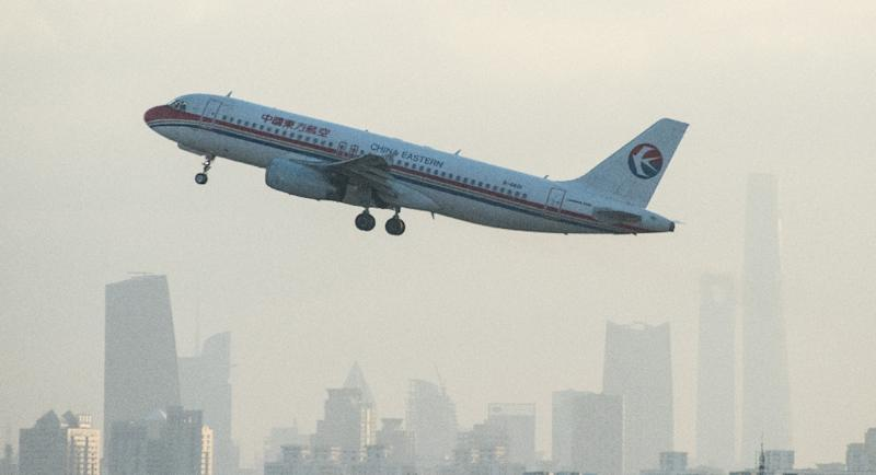 A China Eastern Airlines plane departs from Hongqiaou Airport in Shanghai on February 8, 2015