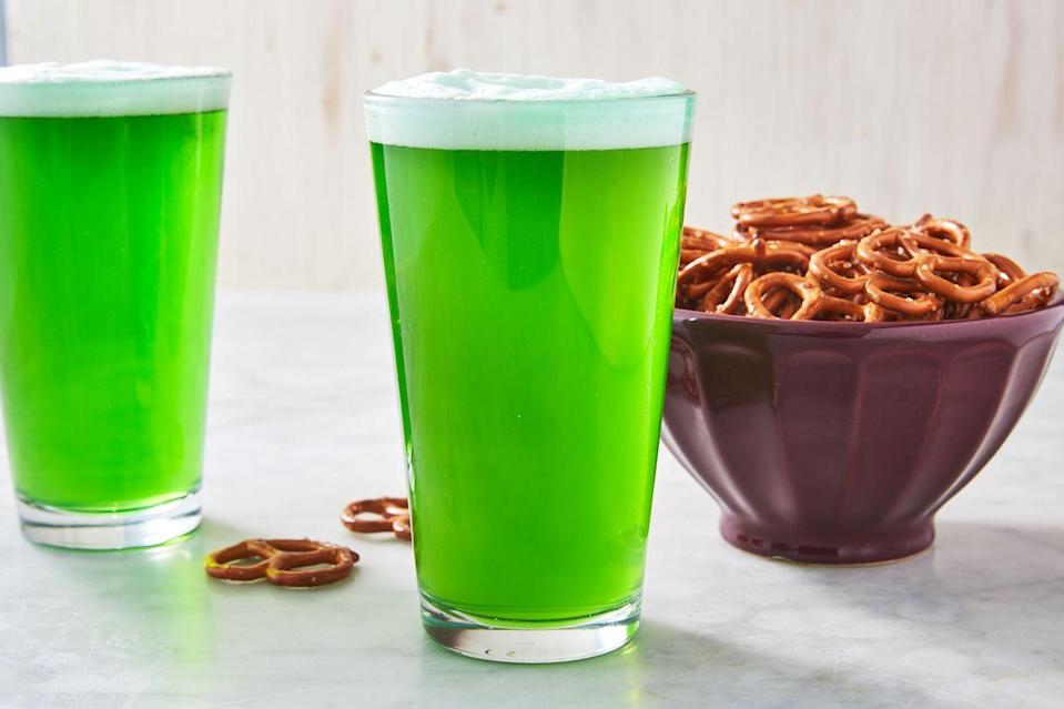"""<p>You cannot celebrate St. Paddy's without a pint of green beer. </p><p>Get the recipe from <a href=""""https://www.delish.com/cooking/recipe-ideas/a26413547/green-beer-st-patricks-day-recipe/"""" rel=""""nofollow noopener"""" target=""""_blank"""" data-ylk=""""slk:Delish"""" class=""""link rapid-noclick-resp"""">Delish</a>. </p>"""