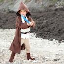 """<p>Spend Halloween in a galaxy far, far away when you make him this <a href=""""https://www.countryliving.com/diy-crafts/g21287723/diy-star-wars-costumes/"""" rel=""""nofollow noopener"""" target=""""_blank"""" data-ylk=""""slk:Star Wars-inspired costume"""" class=""""link rapid-noclick-resp""""><em>Star Wars</em>-inspired costume</a>.</p><p><strong>Get the tutorial at <a href=""""https://mellysews.com/2013/10/easiest-boot-covers-star-wars-costume-tips.html"""" rel=""""nofollow noopener"""" target=""""_blank"""" data-ylk=""""slk:Molly Sews"""" class=""""link rapid-noclick-resp"""">Molly Sews</a>.</strong></p><p><strong><a class=""""link rapid-noclick-resp"""" href=""""https://www.amazon.com/Kavio-Toddlers-Short-Sleeve-TJP0494/dp/B00MAO8BXC?tag=syn-yahoo-20&ascsubtag=%5Bartid%7C10050.g.4975%5Bsrc%7Cyahoo-us"""" rel=""""nofollow noopener"""" target=""""_blank"""" data-ylk=""""slk:SHOP BROWN SHIRT"""">SHOP BROWN SHIRT</a></strong></p>"""
