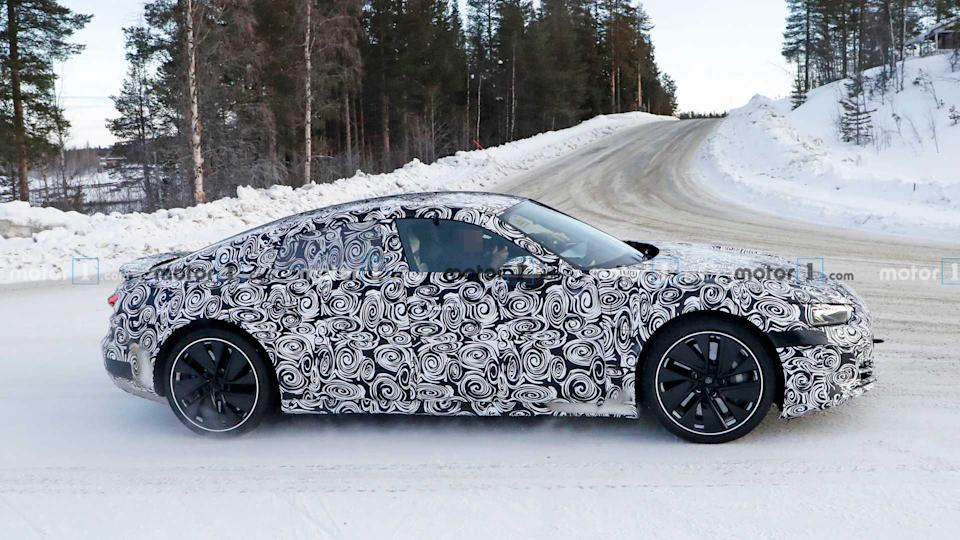 Audi E-Tron GT Returns In 27 Spy Shots With Slightly Less Camo