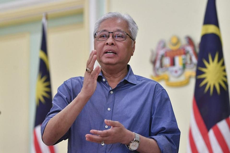 Senior Minister Datuk Seri Ismail Sabri Yaakob pointed out that the current SOP under the movement control order disallows any gathering and a football match is already a breach of the regulations. — Bernama pic