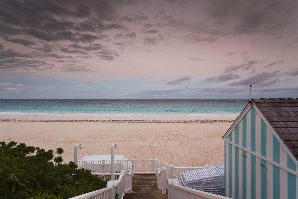 """<p>This island paradise is pretty in pink with sand that sets itself apart from that of your typical beach thanks to its composition of finely crushed coral, calcium carbonate, and <a href=""""https://www.cntraveler.com/galleries/2016-04-19/the-most-beautiful-pink-sand-beaches-in-the-world"""" rel=""""nofollow noopener"""" target=""""_blank"""" data-ylk=""""slk:Foriminifera"""" class=""""link rapid-noclick-resp"""">Foriminifera</a> --an extremely tiny organism that boasts a blushing shelled exterior. </p>"""