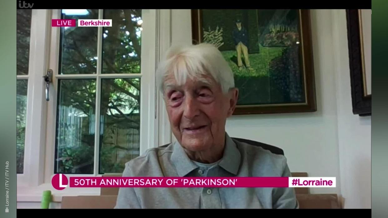 <p>Sir Michael Parkinson has confessed he is embarrassed to watch back his early TV appearances as he talked with a fake 'posh' accent.</p> <p><br>The 86-year-old television presenter and talk show host was born and brought up in Yorkshire, the son of a coal miner, and got his big break when as a young journalist he was asked to do a screen test.</p> <p>Credit: Lorraine / ITV / ITV Hub</p>