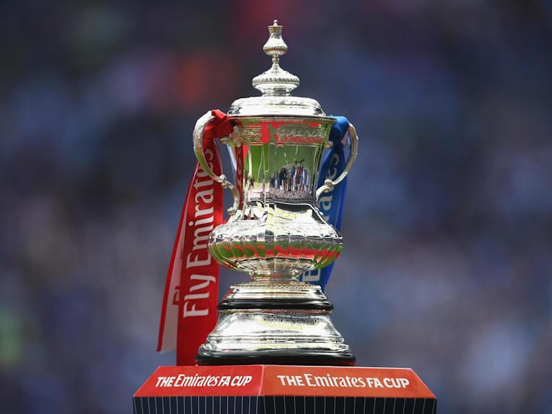 The prize at Wembley in May for the winners of the FA Cup: Getty