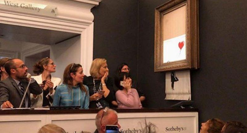 Banksy's painting 'self-destructed' after $1.4M sale