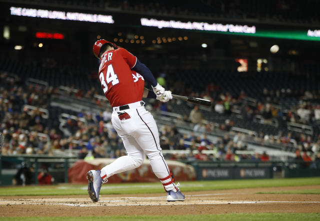 Bryce Harper has been unstoppable in April. (AP Photo)