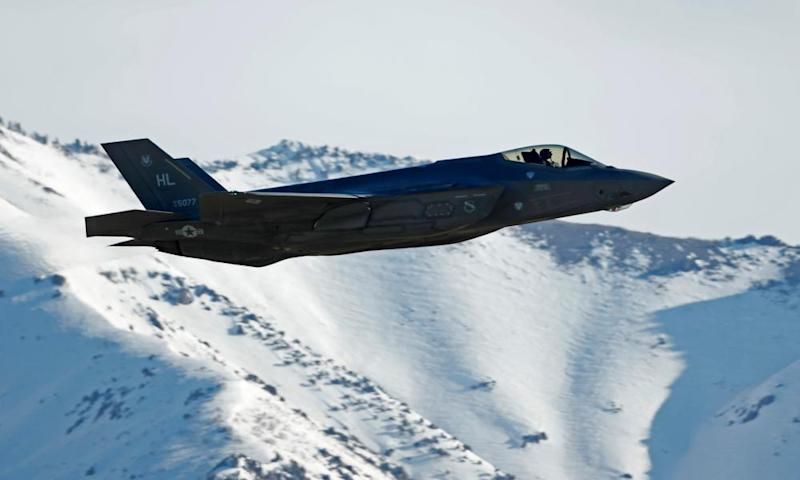 An F-35 fighter plane.