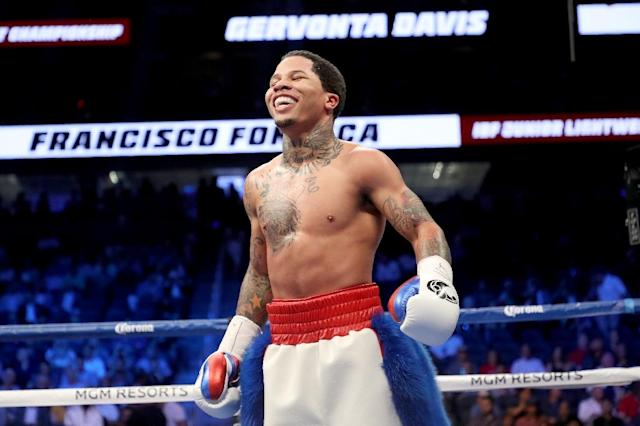 Gervonta Davis lived up to his knockout-artist reputation with his 20th win inside the distance out of his 21 victories (AFP Photo/Christian Petersen)