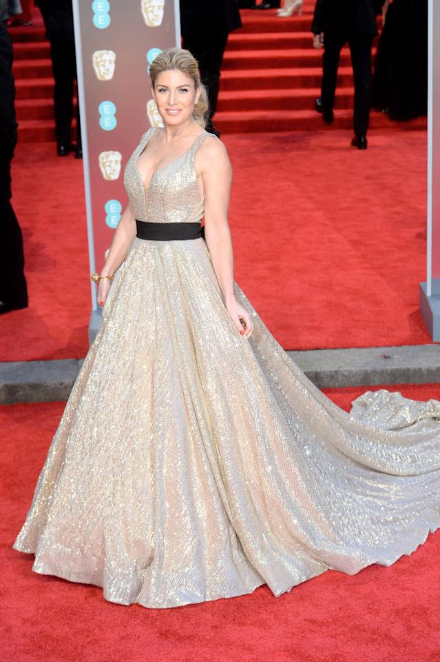 <p>Serial red carpet attendee, Hofit Golan, ditched the red carpet memo in favour of a fairy tale-inspired halterneck gown. <em>[Photo: Getty]</em> </p>