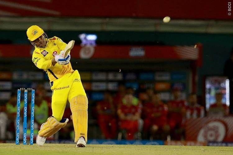 Dhoni sends one flying against Kings XI Punjab
