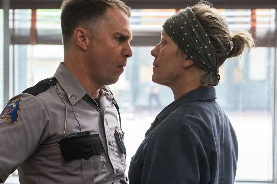 Rockwell won an Oscar for his role as the racist Officer Dixon in Three Billboards Outside Ebbing, Missouri (Credit: Fox Searchlight)