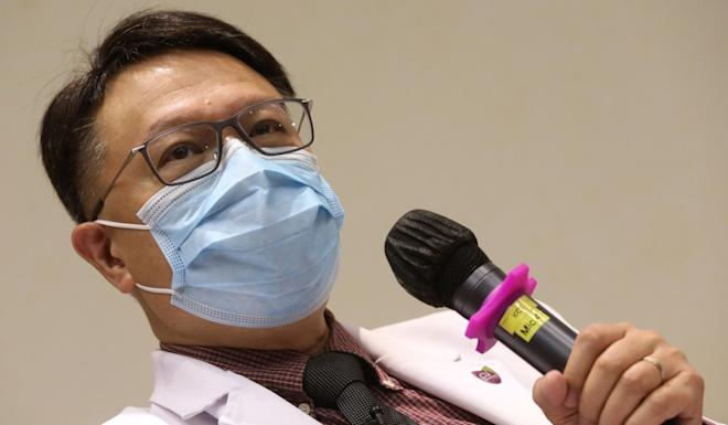 Professor David Hui urges the public not to panic over signs such as the loss of taste and smell. Photo: K.Y. Cheng