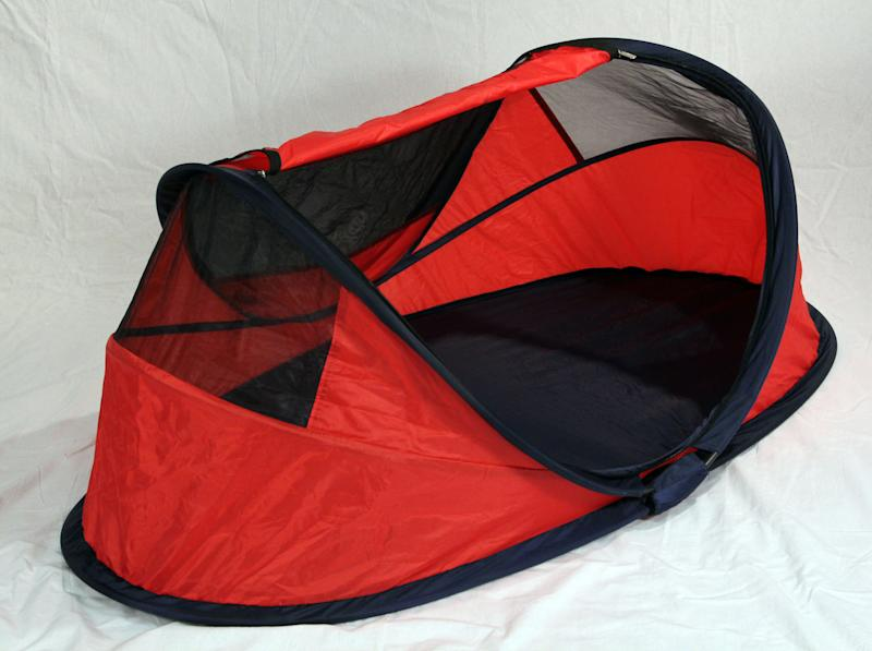 This undated handout provided Consumer Product Safety Commission (CPSC) shows a Pea Pod Travel : infant tent bed - memphite.com