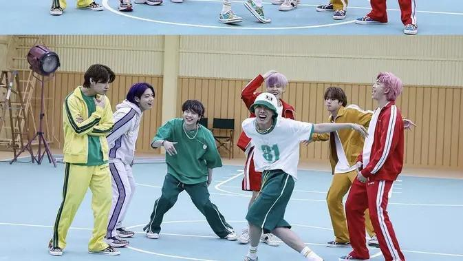 BTS tampil sporty di video klip Butter/dok. Hybe Labels