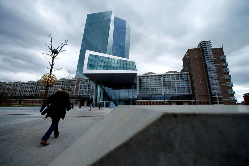 FILE PHOTO: FILE PHOTO: European Central Bank (ECB) headquarters building is seen in Frankfurt