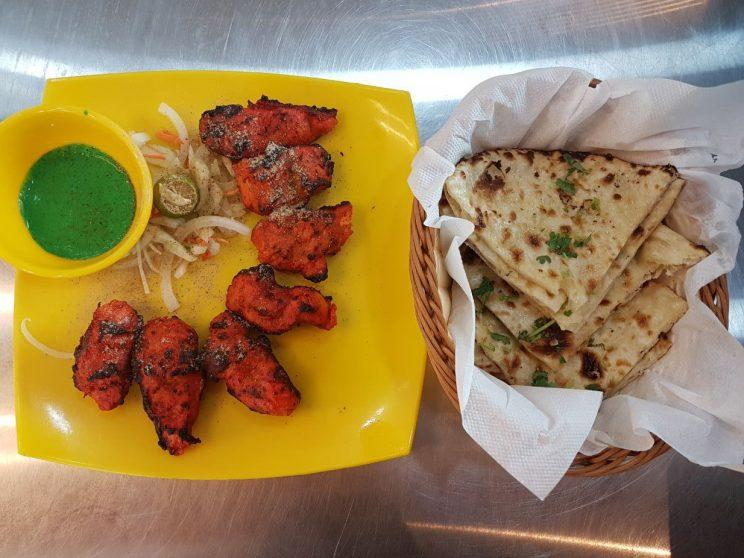 Chicken Tikka ($7.50) and Butter Naan ($3) from Santoshimaa Indian Restaurant at Tuas Amenity Center, near to the Tuas Crescent MRT Station (Photo: Audrey Kang/Yahoo Lifestyle Singapore)