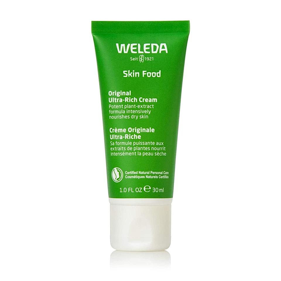 <p>If you have dry skin, nourish it with the fan-favorite <span>Weleda Skin Food Original Ultra-Rich Body Cream</span> ($24).</p>