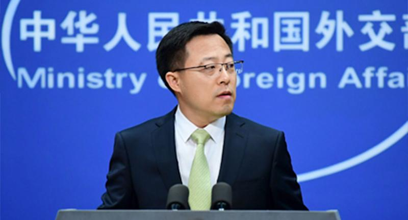 Zhao Lijian has called out Australia over its espionage attempts in China. Source: FMPRC