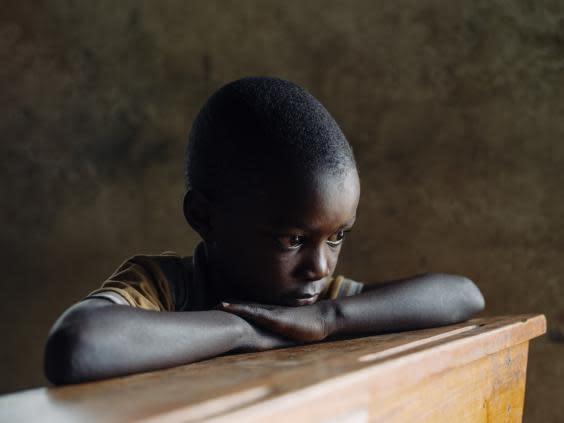Ikiriza has to fund his own education by working weekends at just five years old (Paddy Dowling/EAA)