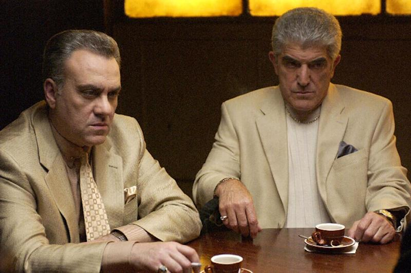 Passed away: Frank Vincent (R) in The Sopranos with Vincent Curatola