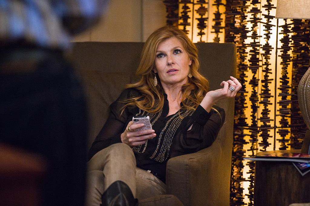 "Connie Britton in the ""Nashville"" episode, ""Be Careful of Stones That You Throw."""