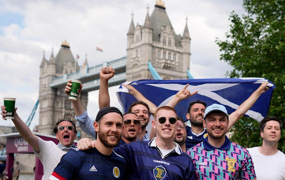Thousands of Scotland fans will be in London for the match (AP)