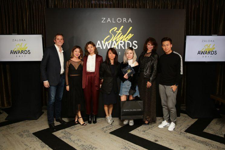 Winners of the Zalora Style Awards 2017 with judges.