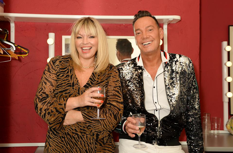 Strictly's Craig Revel Horwood with Kate Thornton backstage ahead of Yahoo's first