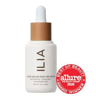 """Get this<a href=""""https://fave.co/3oByIRe"""" target=""""_blank"""" rel=""""noopener noreferrer""""> ILIA Super Serum Skin Tint SPF 40 Foundation on sale</a>(normally $46) during Sephora's Holiday Savings Eventwith code<strong>HOLIDAYFUN</strong>at checkout."""