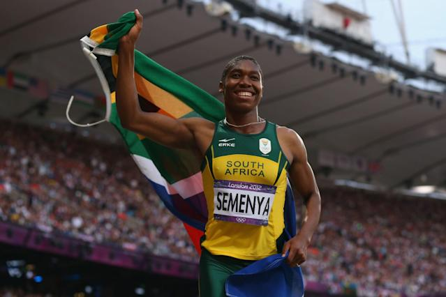 <p>Semenya is one of the most controversial Olympic figures. Critics charge that her success is a result of her hyperandrogenism, a medical condition in which someone displays excessive androgenic hormone levels. Others argue that those claims are not supported by research. (Getty) </p>