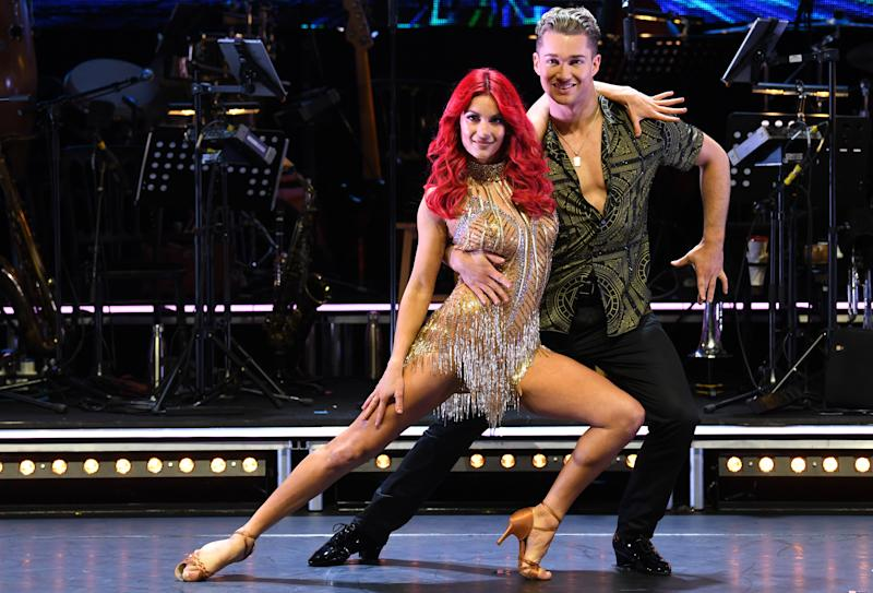 Dianne Buswell and AJ Pritchard attending the Strictly Come Dancing Professionals UK Tour at Elstree Studios, London. Photo credit should read: Doug Peters/EMPICS