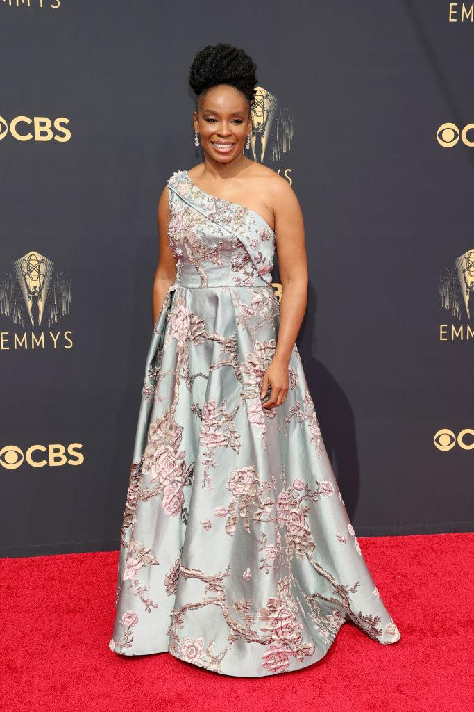 Amber Ruffin attends the 73rd Primetime Emmy Awards on Sept. 19 at L.A. LIVE in Los Angeles. (Photo: Rich Fury/Getty Images)