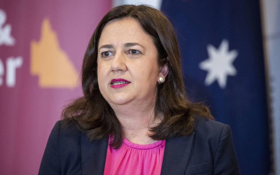 Queensland Premier Annastacia Palaszczuk has announced that she will close the state's borders to NSW and the ACT. Source: AAP