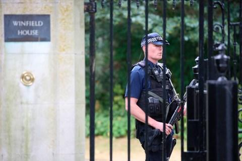 Winfield House under armed guard this week - Credit: GETTY