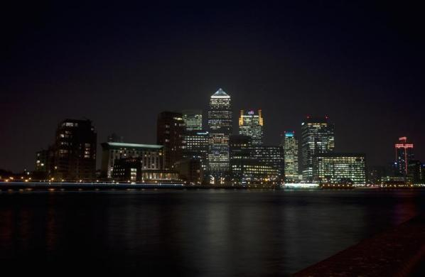 A view of Canary Wharf on the River Thames in London March 15, 2012.