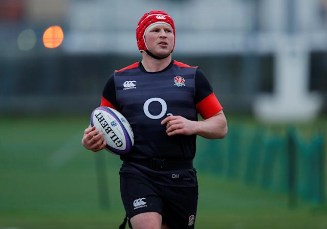 Rugby Union - England Training - Latymer Upper School, London, Britain - February 14, 2018 England's Dylan Hartley during training Action Images via Reuters/Andrew Couldridge