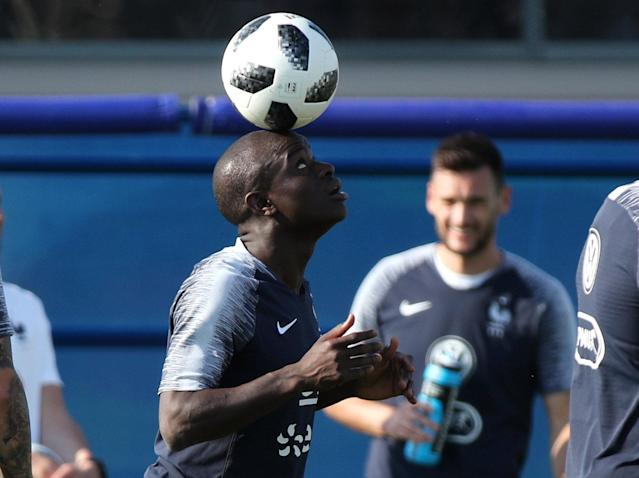 Soccer Football - World Cup - France Training - France Training Camp, Moscow, Russia - June 18, 2018 France's N'Golo Kante during training REUTERS/Albert Gea