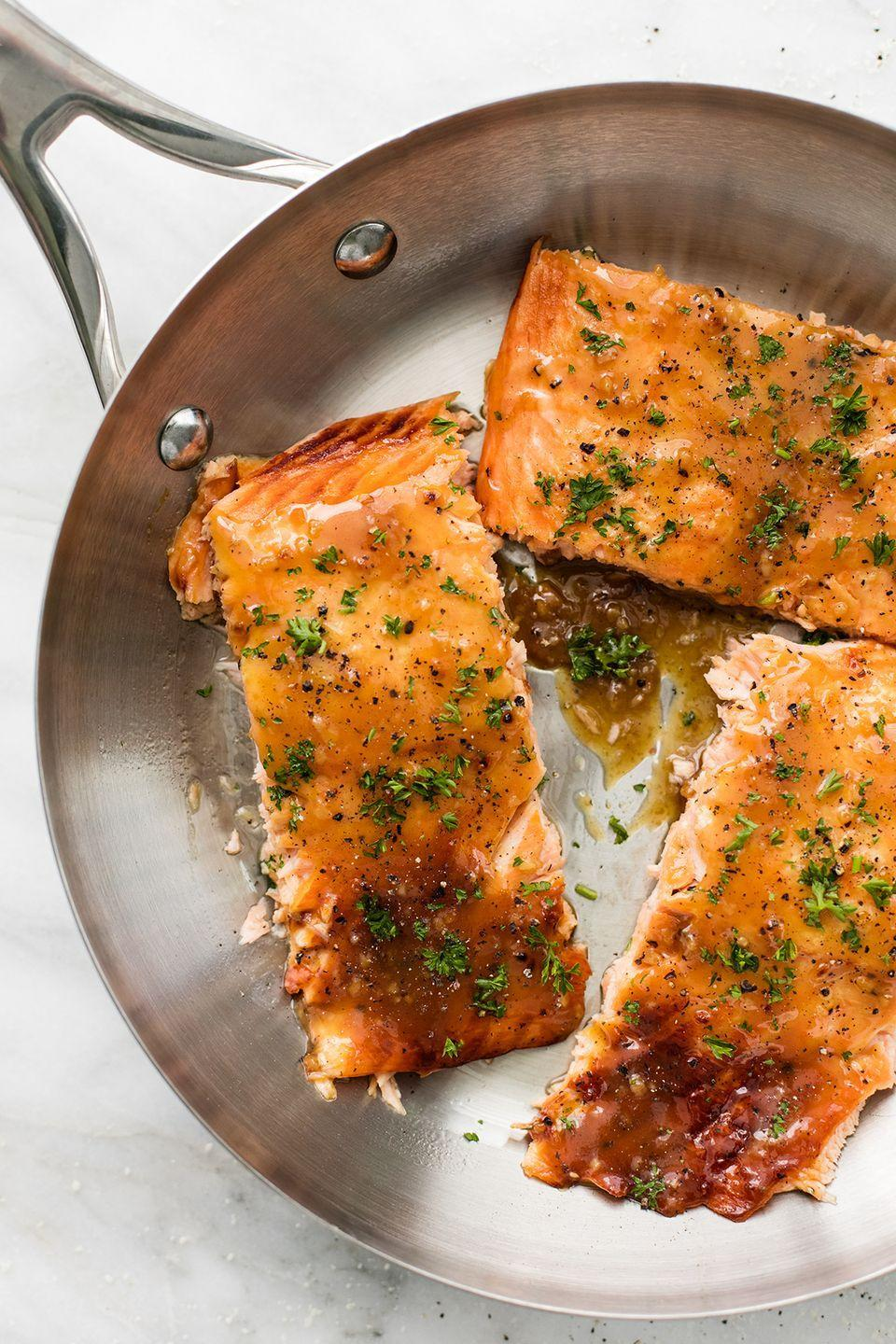 "<p>On the table in ten minutes or less.</p><p>Get the recipe from <a href=""https://www.delish.com/cooking/recipe-ideas/recipes/a52930/maple-dijon-salmon-recipe/"" rel=""nofollow noopener"" target=""_blank"" data-ylk=""slk:Delish"" class=""link rapid-noclick-resp"">Delish</a>.</p>"
