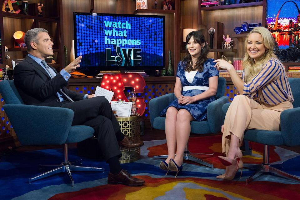 "<p>On an episode of <em><a href=""https://www.bravotv.com/watch-what-happens-live-with-andy-cohen/season-12/episode-168/videos/zooey-kates-high-school"" rel=""nofollow noopener"" target=""_blank"" data-ylk=""slk:Watch What Happens Live"" class=""link rapid-noclick-resp"">Watch What Happens Live</a></em>, former classmates Zooey Deschanel and Kate Hudson reunited and looked fondly on their memories of their shared time at Crossroads School for Arts & Science in Santa Monica, California. Once specific instance really stood out for Hudson: the drama surrounding a school production of <em>Don Quixote</em> that both she and Deschanel auditioned for. While the <em>How to Lose a Guy in 10 Days</em> actress played the part of Quixote's niece, Deschanel got the shorter end of the stick, taking on the role of Quixote's horse! </p>"