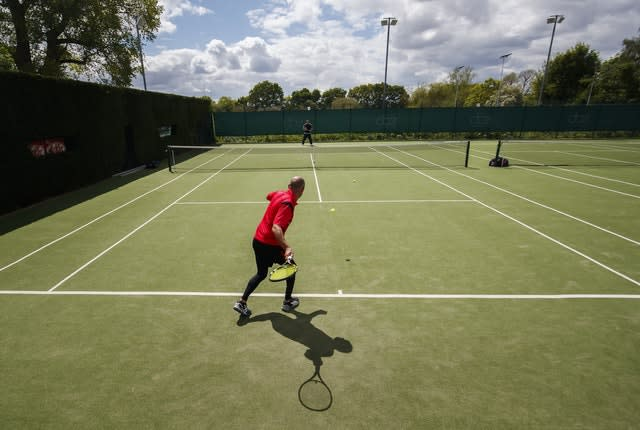 Tennis was one of the first sports allowed to be played socially across the country (Danny Lawson/PA)