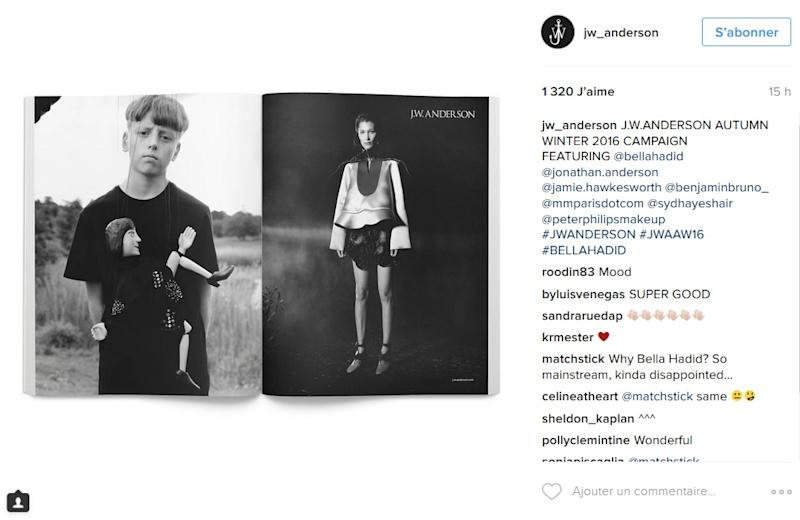 This is the first time that J.W. Anderson has chosen a celebrity model for one of its campaigns.