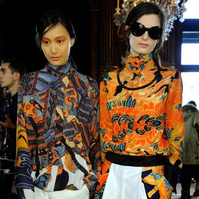 Dries Van Noten: Backstage: A/W12: Oriental Influence: Fashion Trend