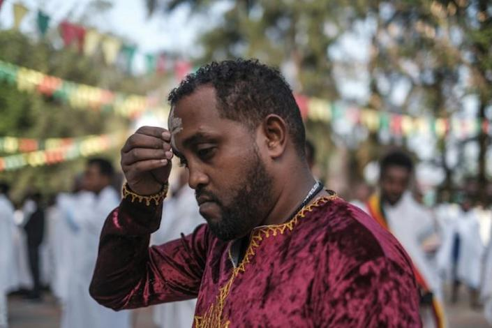 Many worshippers prayed for peace in Ethiopia