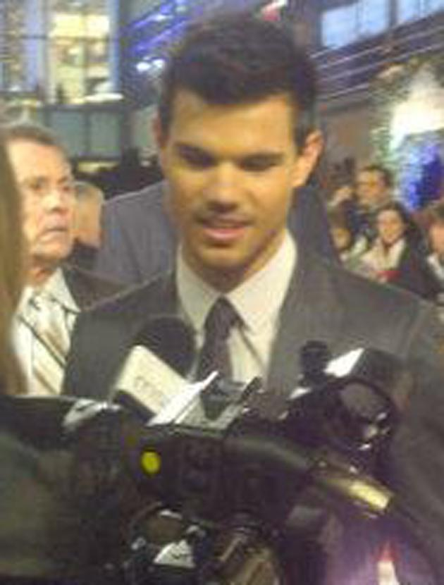Celebrity photos: We did actually get closer to Taylor Lautner when we interviewed him but we were too blown away to take a pic!
