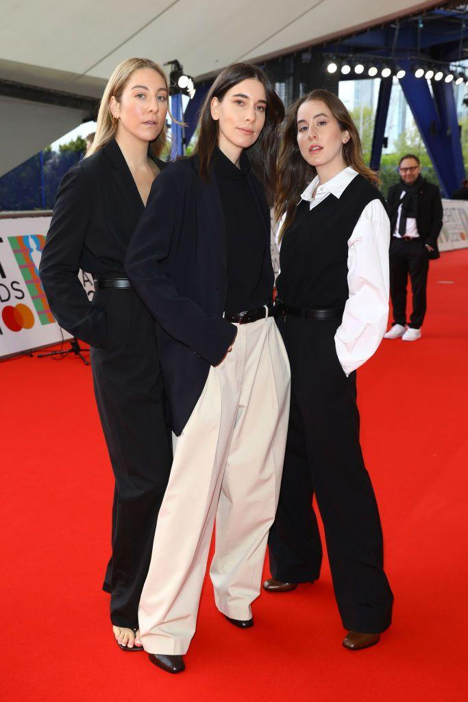 <p>Este, Danielle and Alana Haim wore The Row tailoring to the 2021 BRIT Awards where they picked up Internal Group. </p>