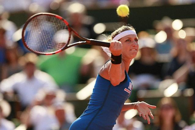 Tennis - French Open - Roland Garros, Paris, France - 4/6/15 Women's Singles - Switzerland's Timea Bacsinszky in action during the semi final Action Images via Reuters / Jason Cairnduff Livepic