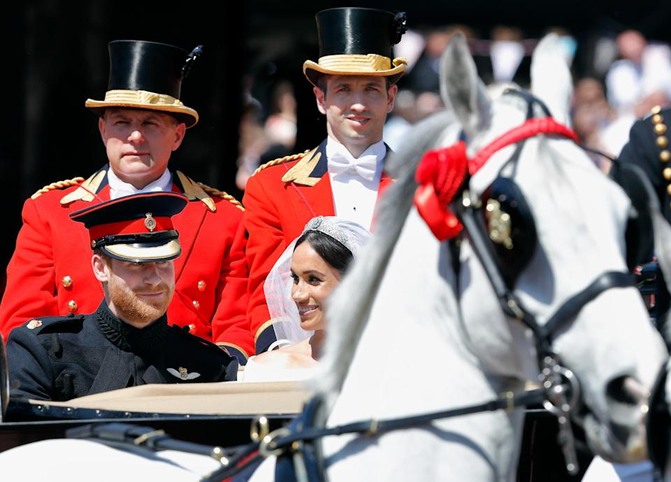 Prince Harry and Meghan Markle on their wedding day [Photo: Getty]