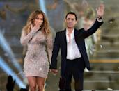 <p>Jennifer Lopez and Marc Anthony were one of the most famous couples in Latin music but, after a decade together, realized they worked better as musical partners and co-parents. The exes worked on Lopez's upcoming Spanish-language album and share twins, Max and Emme.</p>