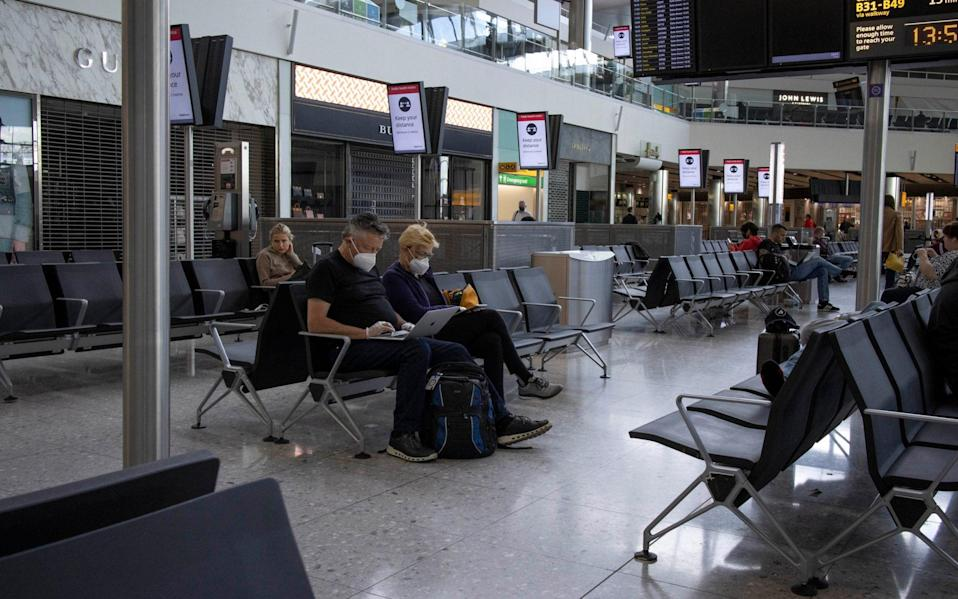 Heathrow, London, UK Travellers make most of free movement out of Heathrow Terminal 2 before coronavirus UK quarantine is put into effect on any return or air travel into the UK to try and slow down coronavirus infections being brought into the country - Jeff Gilbert